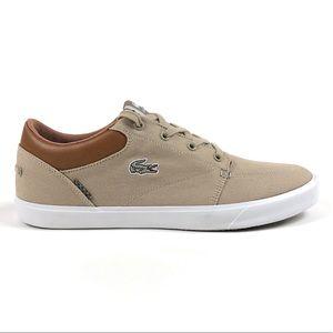 Lacoste Baylis Vulc VST2 US SPM Brown Canvas Shoes